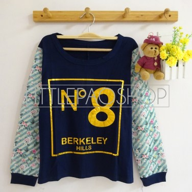 No.8 BerkHills Top (navy) - ecer@60rb - seri4w 220rb - spandex + wedges - fit to L