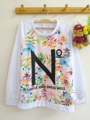 No Floral Sweatshirt (pink) - ecer@72rb - seri4w 268rb - wedges+babyterry - fit to L