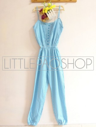 Picnic Jumpsuit (blue) - ecer@70rb - seri3w 195rb - katun - fit to L