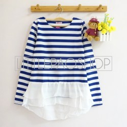 Stripey Candy Top (blue) - ecer@78rb - seri4w 292rb - wedges + ceruti - fit to L