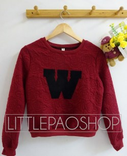 W Rose Sweater (maroon) - ecer@77rb - seri5w 360rb - emboss velvet + print bludru - fit to L