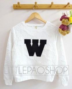 W Rose Sweater (white) - ecer@77rb - seri5w 360rb - emboss velvet + print bludru - fit to L