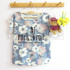 Flowery Rock N Roll (blue) - ecer@58rb - seri3w 159rb - katun - fit to L