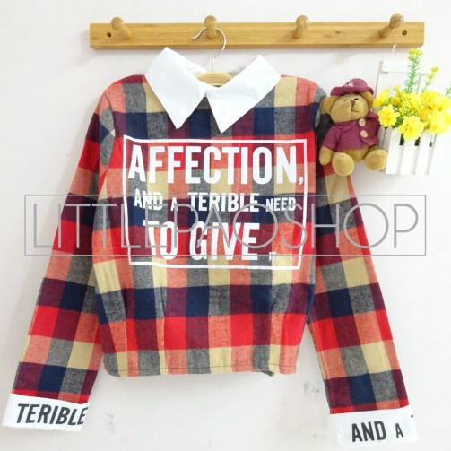 IMPORT - Affection Scotland Shirt (orange) - ecer@85rb - seri3w 240rb - flanel - fit to L