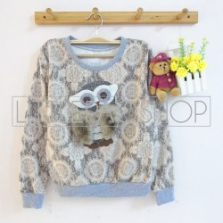 IMPORT - Antique Derpy Owl (brown) - ecer@85rb - seri3w 240rb - babyterry dgn tekstur unik - fit to L