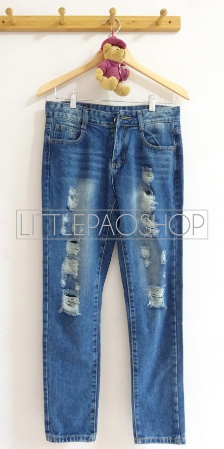 [IMPORT] Blues Ripped Pants (Dark) - ecer@110rb - seri3ukuran 315rb - jeans tebal - ukuran 27,28,29