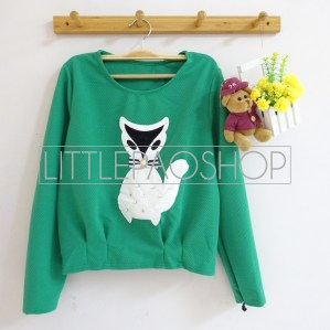 [IMPORT] Classy Fox Sweater (green) - ecer@75rb - seri3w 210rb - wedges tekstur - fit to L