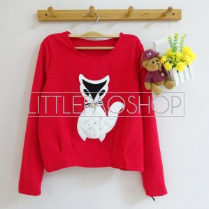[IMPORT] Classy Fox Sweater (red) - ecer@75rb - seri3w 210rb - wedges tekstur - fit to L