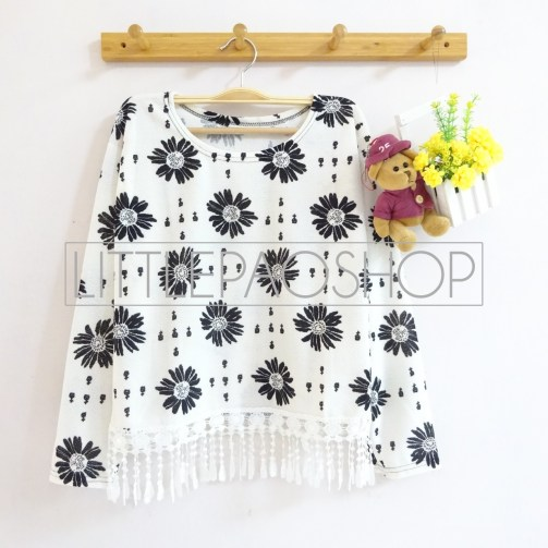 [IMPORT] Daisy Rain Top - ecer@65rb - seri4pcs 240rb - wedges tekstur - fit to L