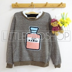 [IMPORT] Perfume Vintage Sweater (brown) - ecer@80rb - seri4w 300rb - rajut - fit to L