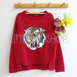 [IMPORT] ROAR Sweater (Red) - ecer@76rb - seri3w 213rb - wedges tekstur - fit to L