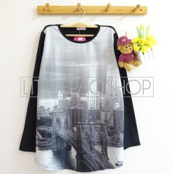 [IMPORT] San Fransisco Top - ecer@80rb - seri4pcs 300rb - scuba print + spandex jersey - fit to L