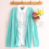 2-in-1 Cardi Shirt (Tosca) - ecer@75rb - seri2w 140rb - Khasmir + Twistcone - fit to L
