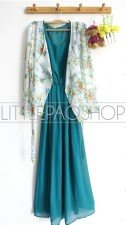 Calm Green Maxi Set - ecer@112rb - chiffon+furing - fit to L