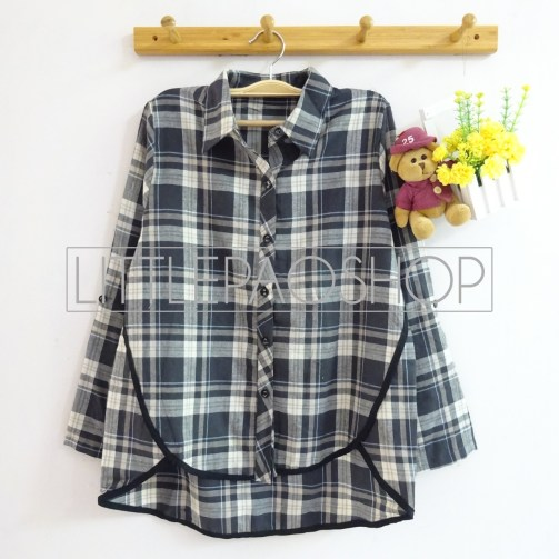 Naomi Loose Flannel Shirt (grey) - ecer@85rb - seri4w 320rb - flannel - fit to L