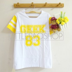 Rainbow GEEK 83 Tee (yellow) - ecer@40rb - kaos - fit to L