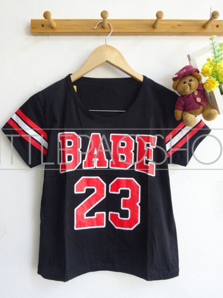 BABE Baseball Tee (black)- ecer@40rb - seri3w 105rb - kaos - fit to L