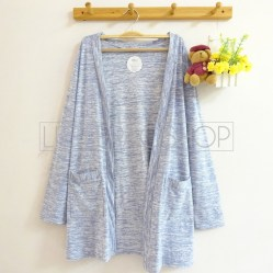 Dreamcatcher Pocket Cardi (blue) - ecer@75rb - seri4w 280rb - kaos slub - fit to L