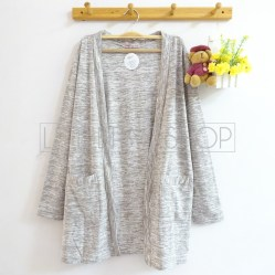 Dreamcatcher Pocket Cardi (grey) - ecer@75rb - seri4w 280rb - kaos slub - fit to L