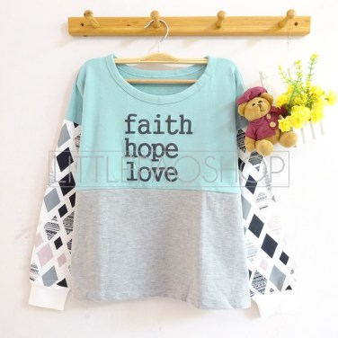Faith Hope Love Sweater (tosca) - ecer@70rb - seri4w 260rb - babyterry - fit to L