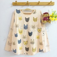 Meow Face Pattern Top (cream) - ecer@57rb - seri4w 208rb - spandex - fit to L