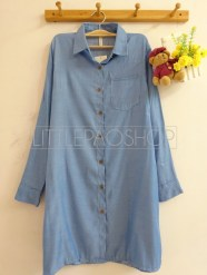 Shiho Denim Tunic (medium) - ecer@80rb - seri3w 225rb - denim - fit to L
