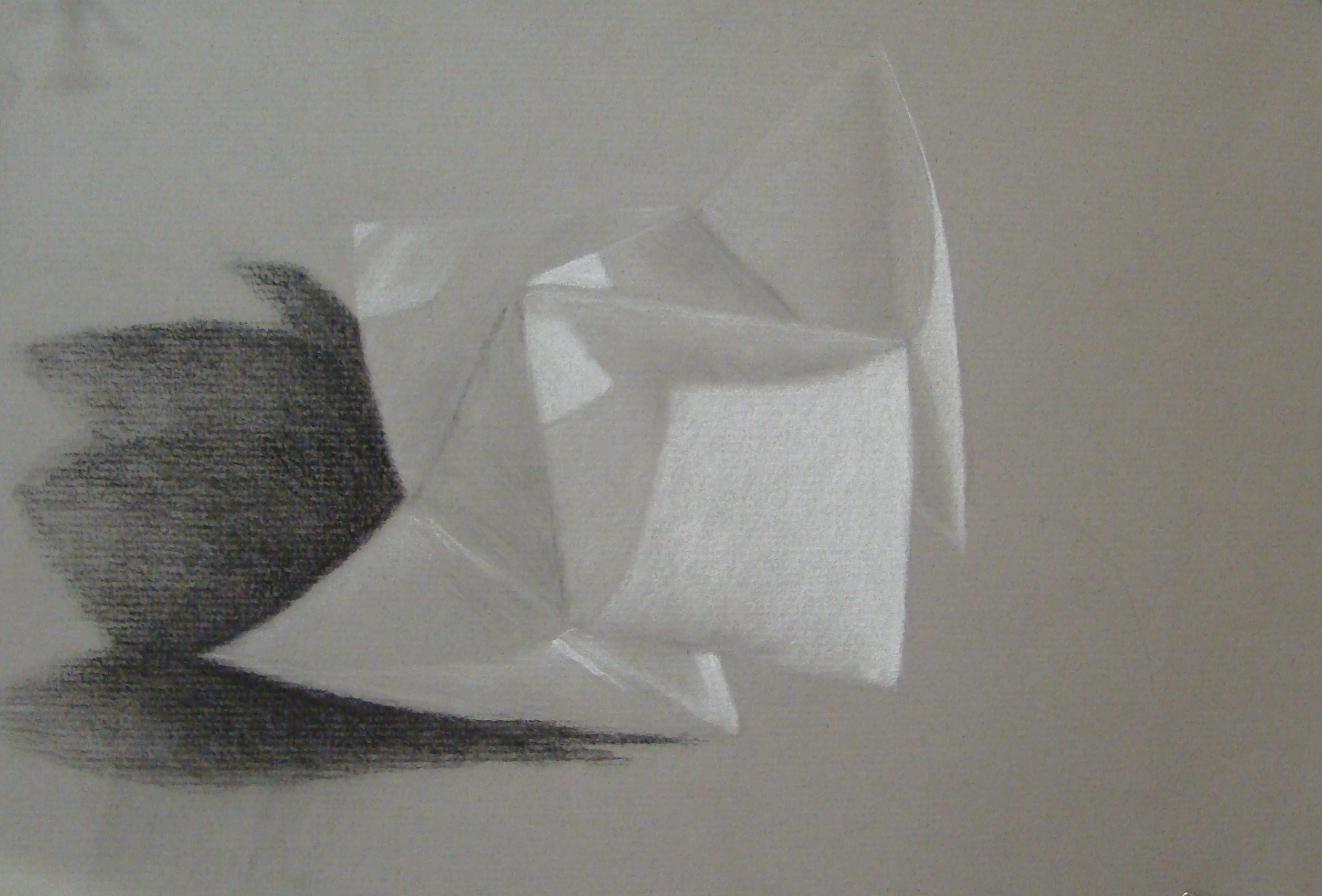 Black And Toned White Charcoal Paper