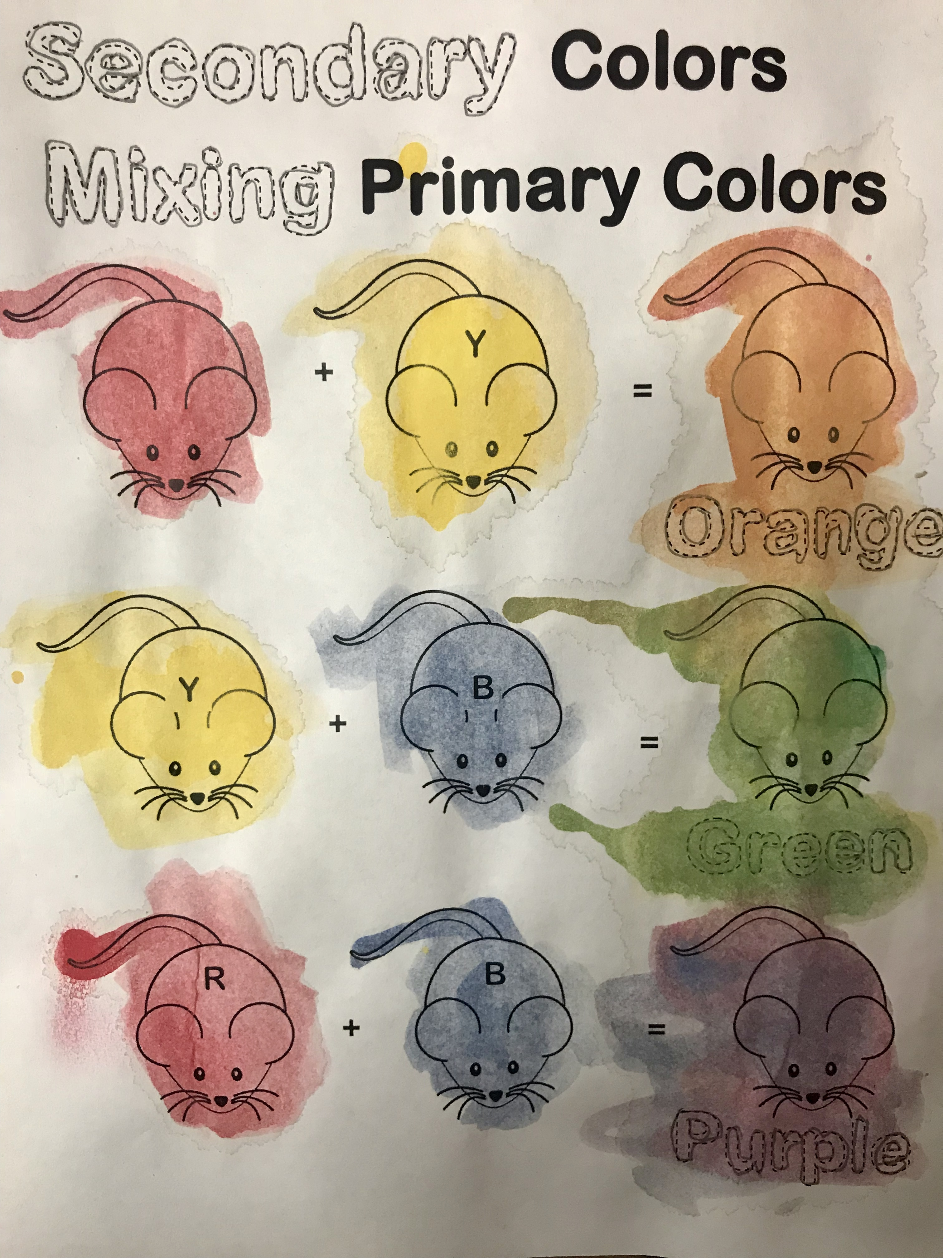The Smartteacher Resource Secondary Colors Worksheet