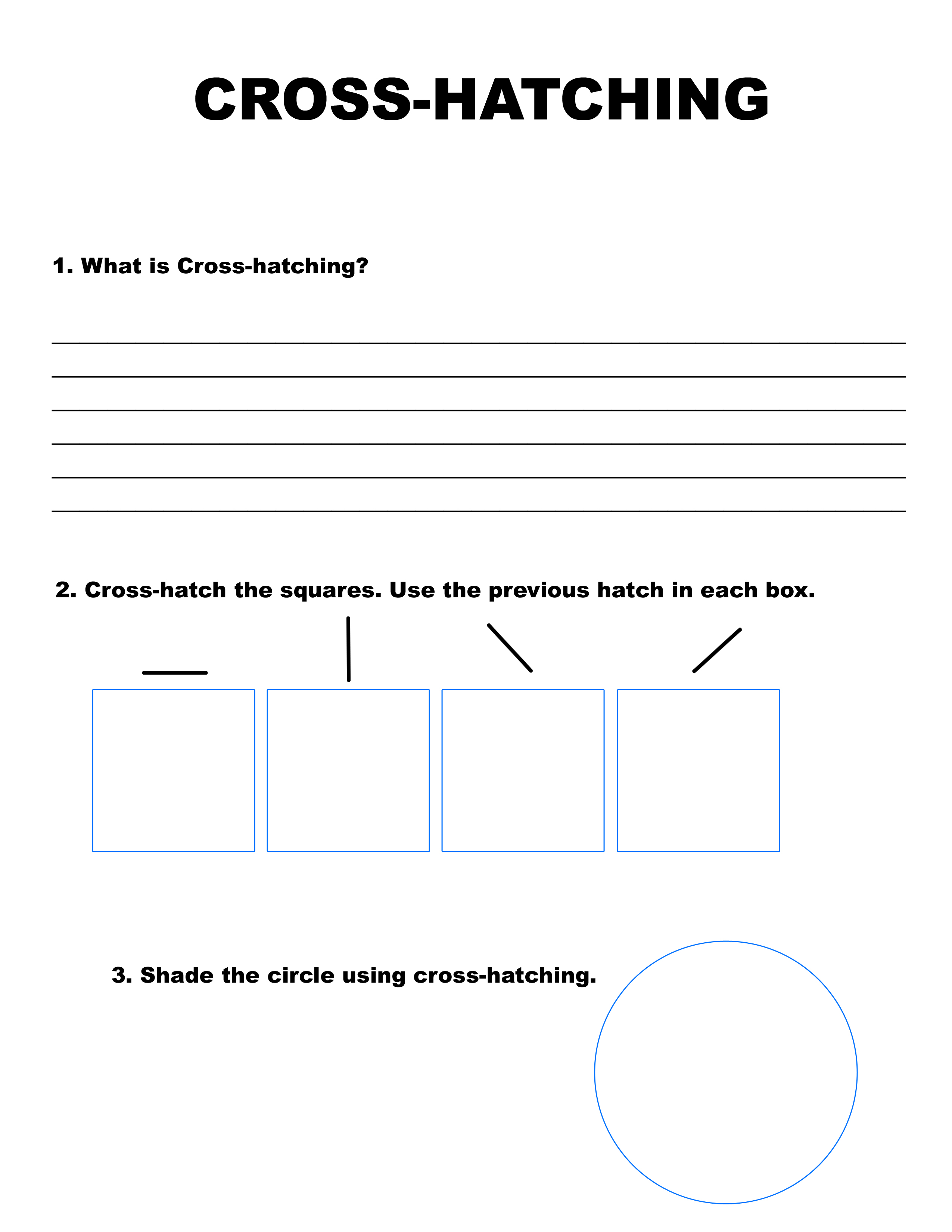 Hatching Cross Hatching Worksheet
