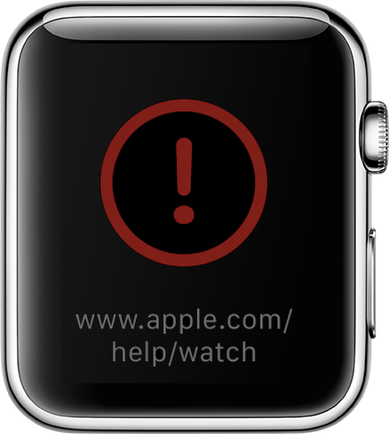 If you see a red     on your Apple Watch   Apple Support Start a Discussion  in Apple Support Communities