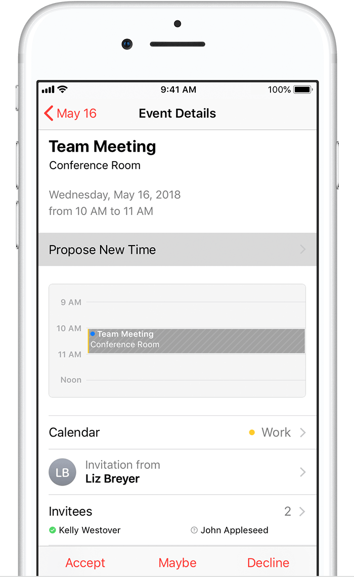 Propose A New Meeting Time