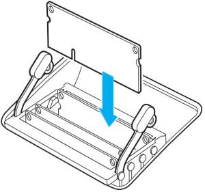 L'encoche de l'iMac (27pouces, fin2012) se trouve sur la partie inférieure gauche