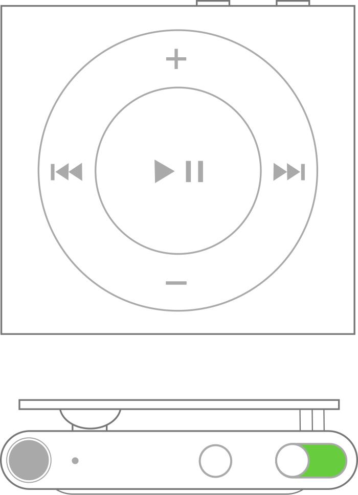 Forzar el reinicio del iPodshuffle