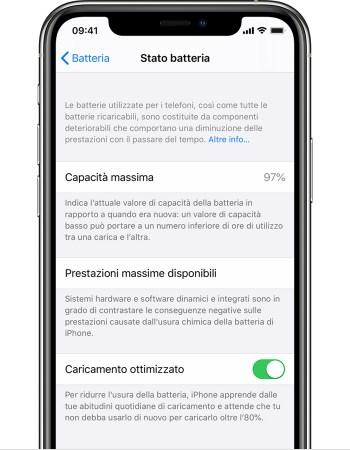 Informazioni su Ricarica ottimizzata della batteria su iPhone - Supporto  Apple