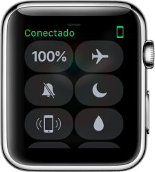 Central de Controle no Apple Watch