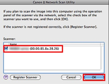 Canon ij Network Scan Utility