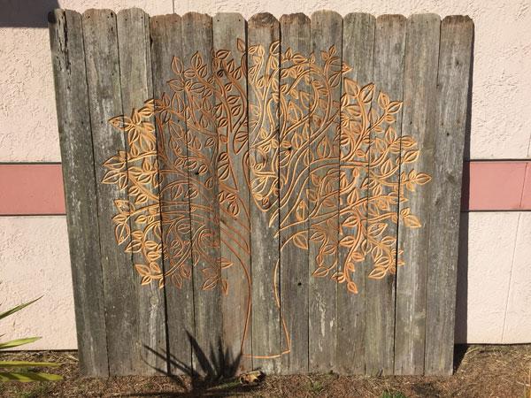DXF Tree Fence