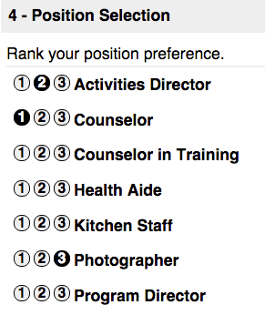 Position Selection