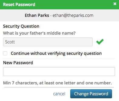 CT6 - Reset Password