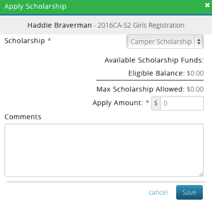 CT6 - Apply Scholarship