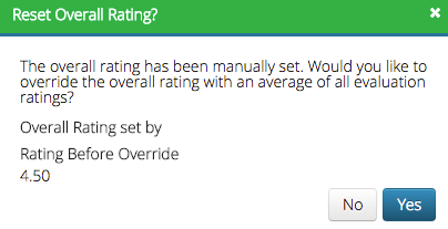 Reset Overall Rating