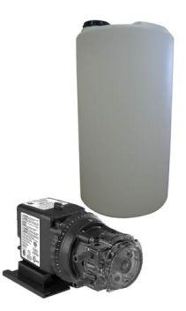 Stenner Pump and Soution Tank Setup