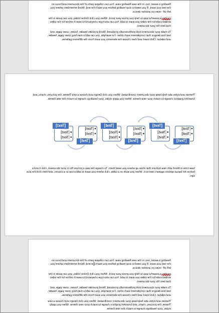 تسمح لك الصفحة الافقيه في المستند العمودي خلاف ذلك باحتواء العناصر العريضة مثل الجداول والرسومات التخطيطية علي الصفحة