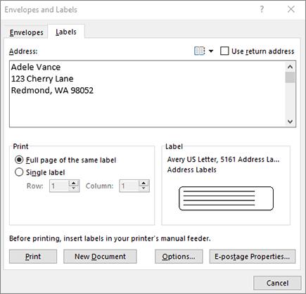 Erstellen und Drucken von Etiketten - Office-Support
