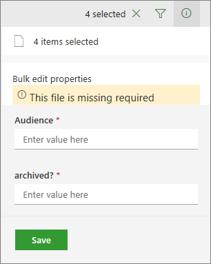 Select multiple items, and bulk edit them