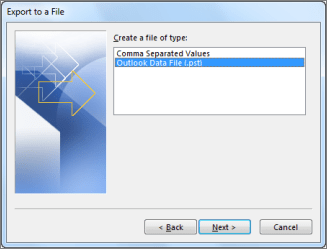 Export to data file