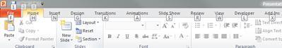 The keyboard shortcuts keys on the File tab