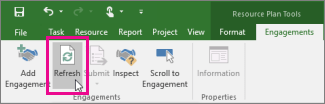 Refresh button on the Engagements tab - www.office.com/setup