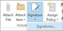 Signature command