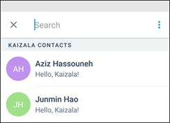 Kaizala Start Chat